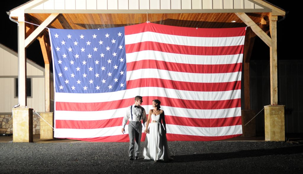 Anna & Zack's patriotic wedding