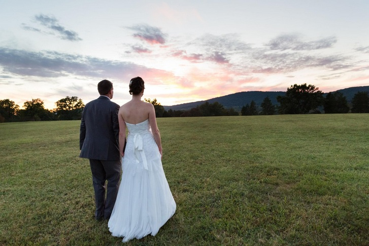 Featured on Borrowed & Blue: Beth & Kyle at Wolftrap Farm. Photo by C. Tyler Corvin Studio
