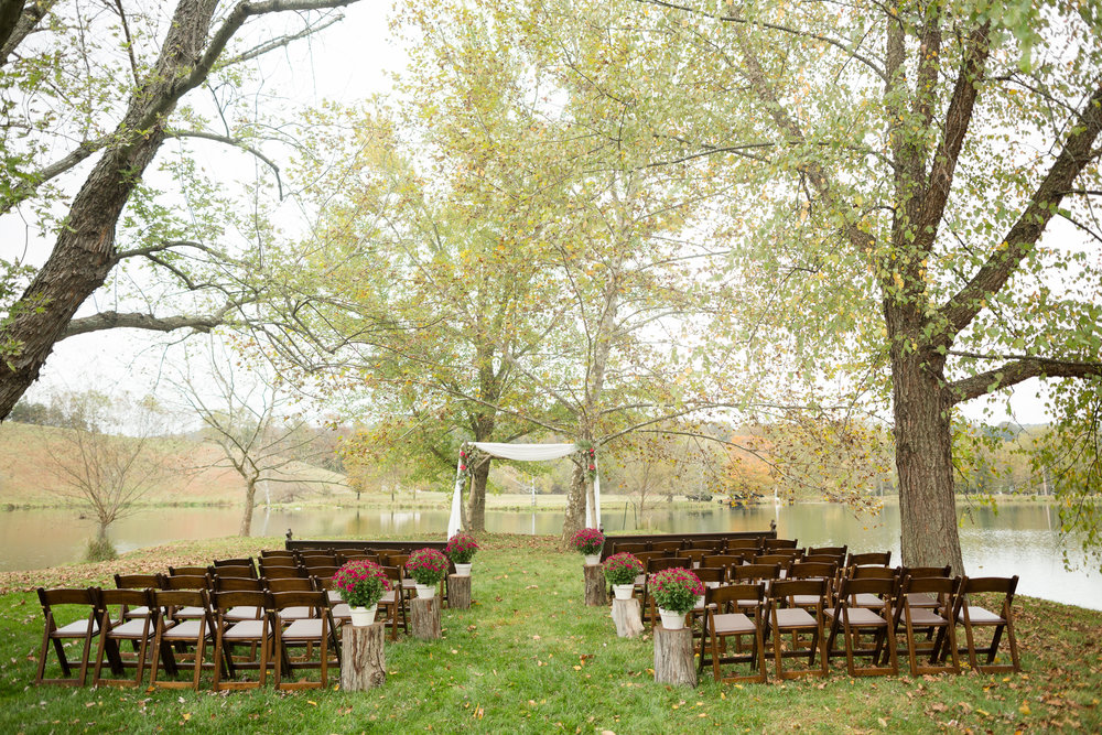 Lakeside wedding venue: Big Spring Farm