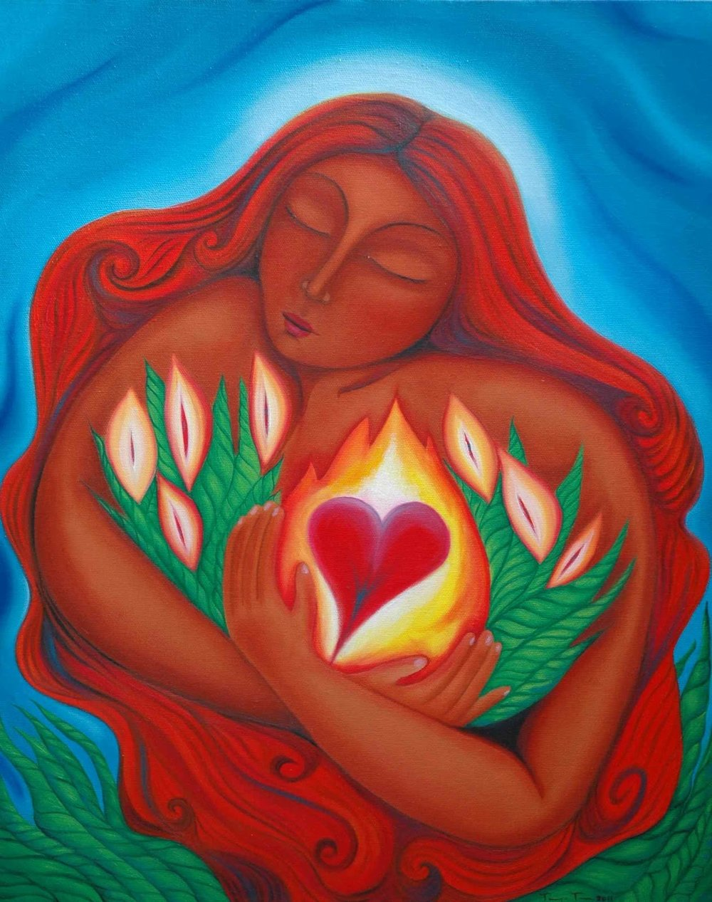 Mary Magdalene of the Burning Heart  by Tanya Torres