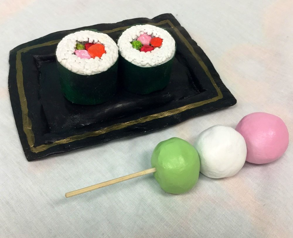 "Student ""Pop Art Food"" sculpture"
