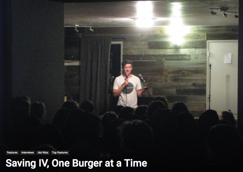 Saving IV, One Burger at a Time -