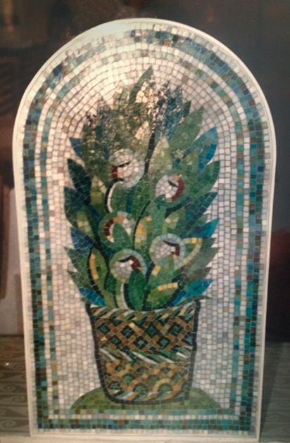 Ravenna inspired glass mosaic panel, 38 w x 3,1 deep x 78cm tall, mounted on wood C.jpg