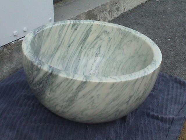 Appianez Italian hemisheric basin, dia 43 x 16,9cm high, Cremo Tireno Marble Satin Finish.jpg