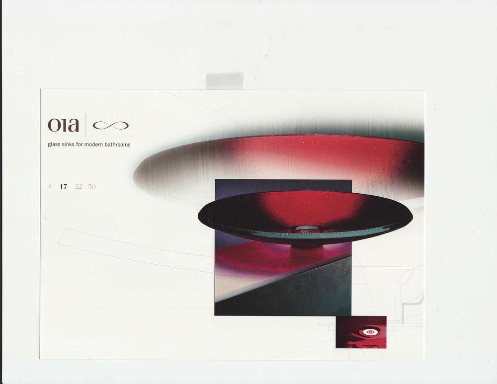 Asian glass basin, dia 45 x 8,7cm high, Rajah Red Spun Glass.jpg