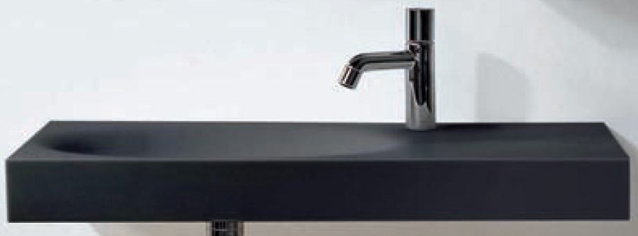Sanico City basin shown wall mounted.  Basin can alternatively be installed as counter top.