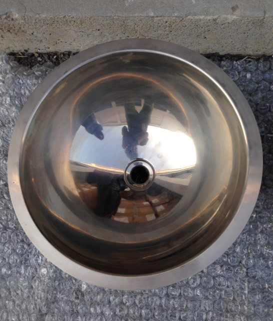 Metal bar, bath basin with flat rim for install undercounter or flush, dia 40 x 14,3 deep, Silver Nickel.jpg