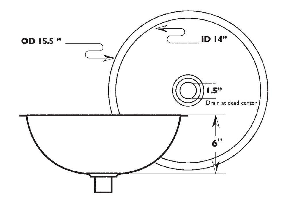 Silex undermountmetal bar bath, basin,image 2, dia 40 x 15cm high, NICKEL.jpg