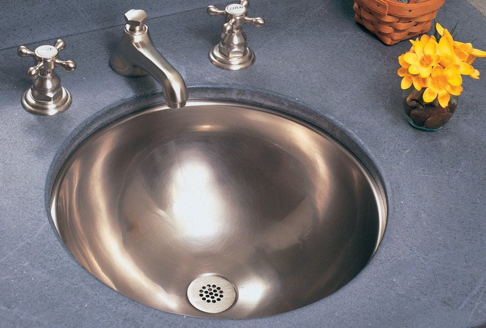 Silex undermout metal bar, bath basin, no overflow, dia 40 x 15cm deep, Nickel.jpg