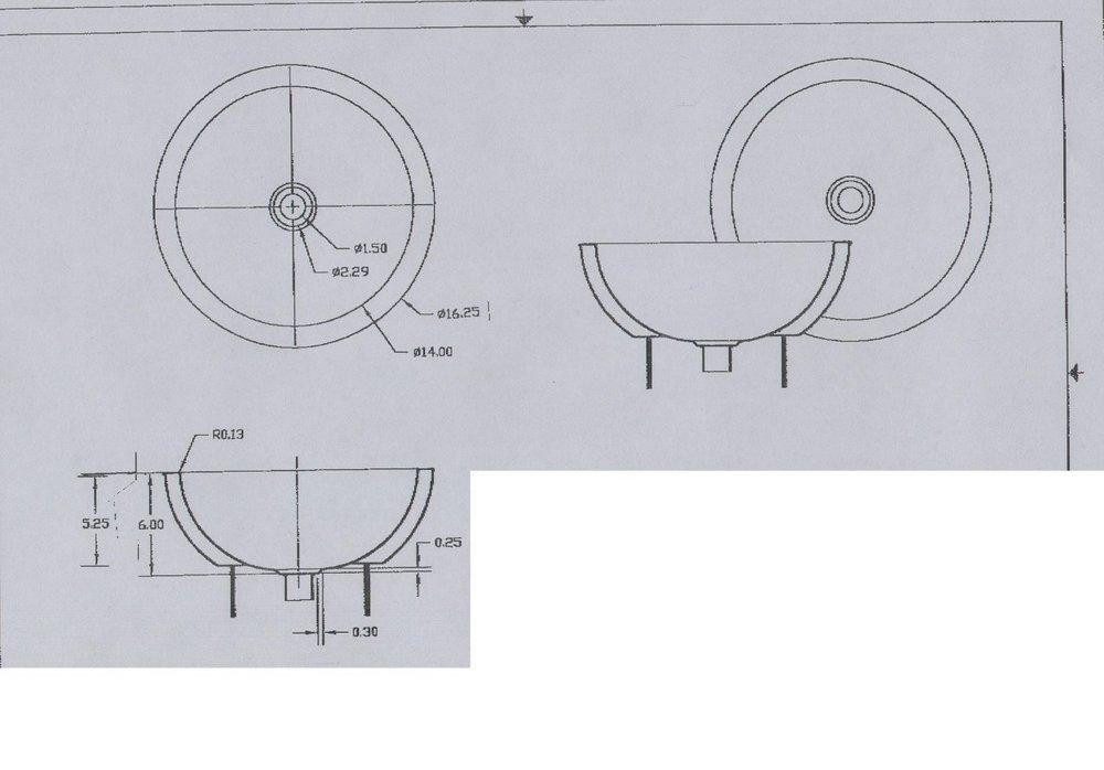 Silver plated bar or bath basin,image 2  dia 43 x 16cm high, Silver.jpg