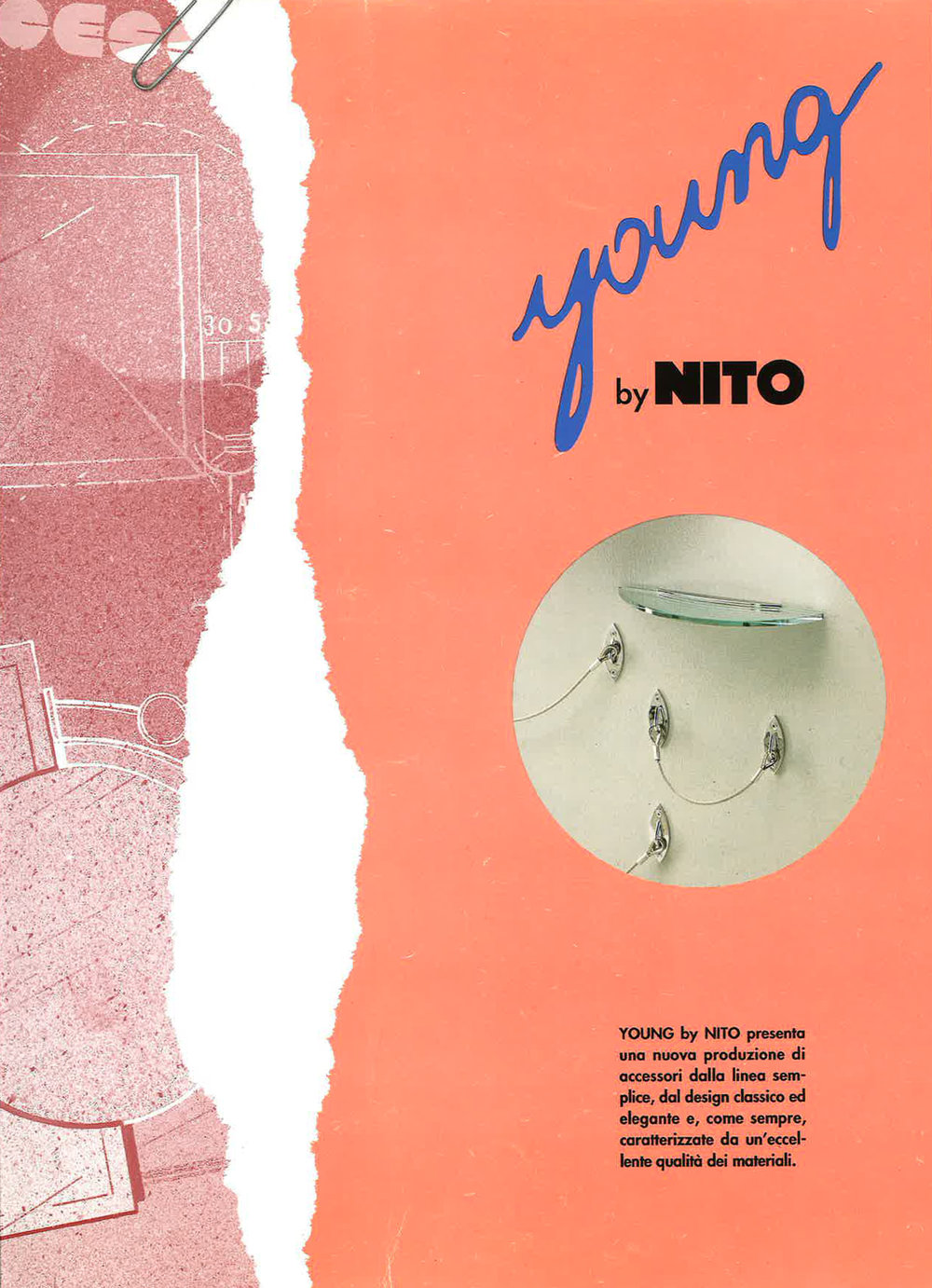 NITO catalog image of Venezia bath accessories range