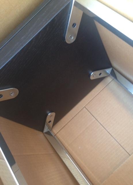 INDA Bathroom, Bedroom Table [ not for shower interior ] underside construction detail, item shown inside packing carton.jpg