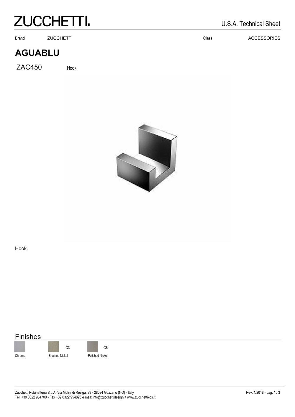 Zuchetti Aquablu robe hook, 3,9 w x 3,9 h, PC-1.jpg