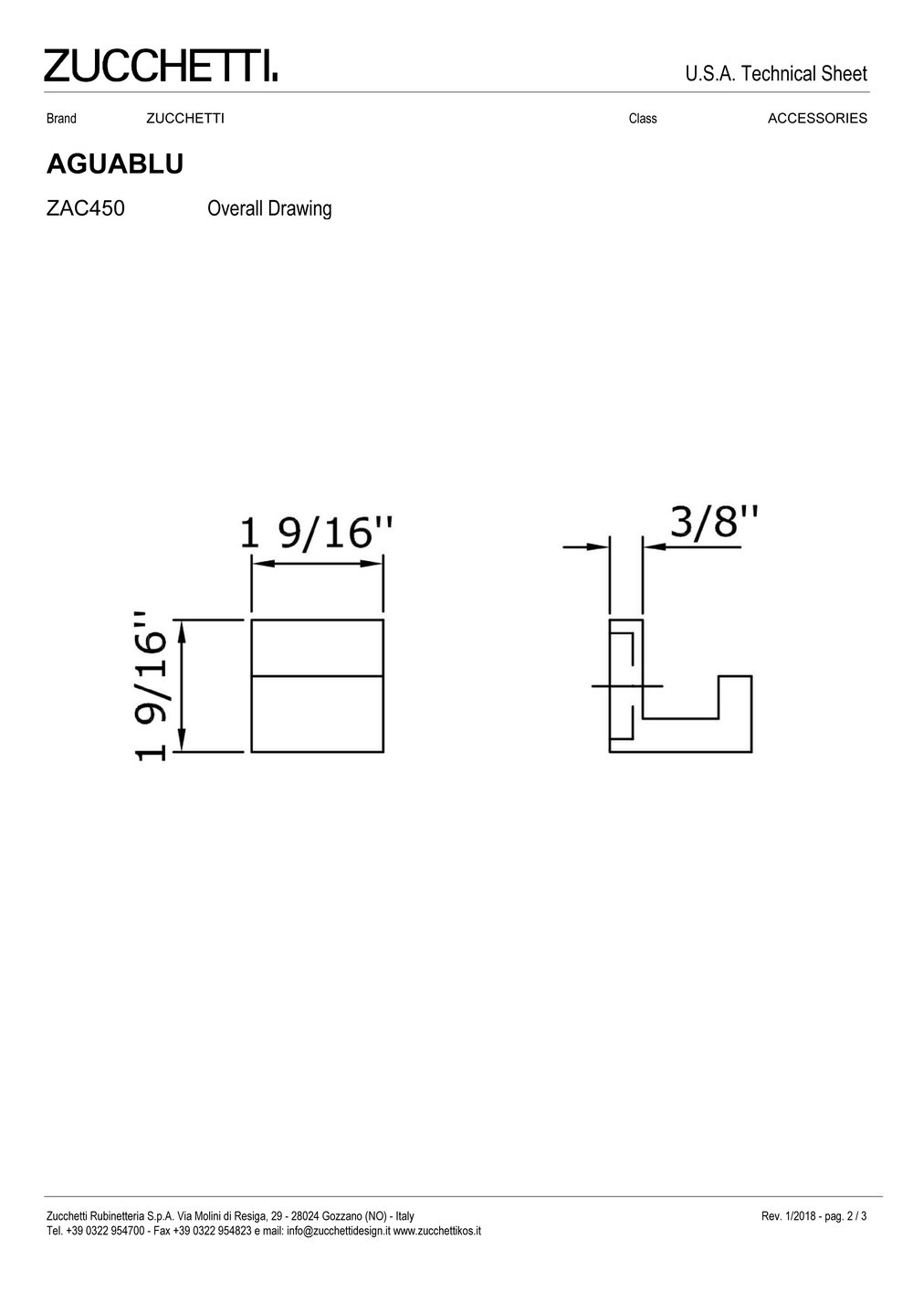 Zuchetti Aquablu robe hook, 3,9 w x 3,9 h, PC-2.jpg