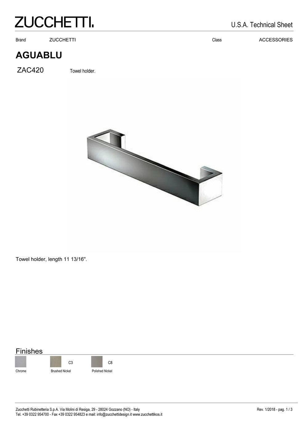 Zuchetti Aquablu towel rail, 30 w x 6,5 projection x 4cm tall,  PC-1.jpg