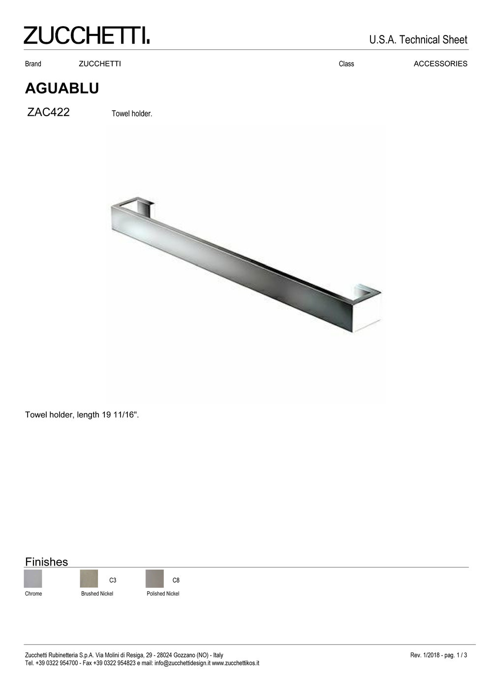 Zuchetti Aquablu towel rail, 50 w x 6,5 projection x 4cm tall, PC, BN-1.jpg