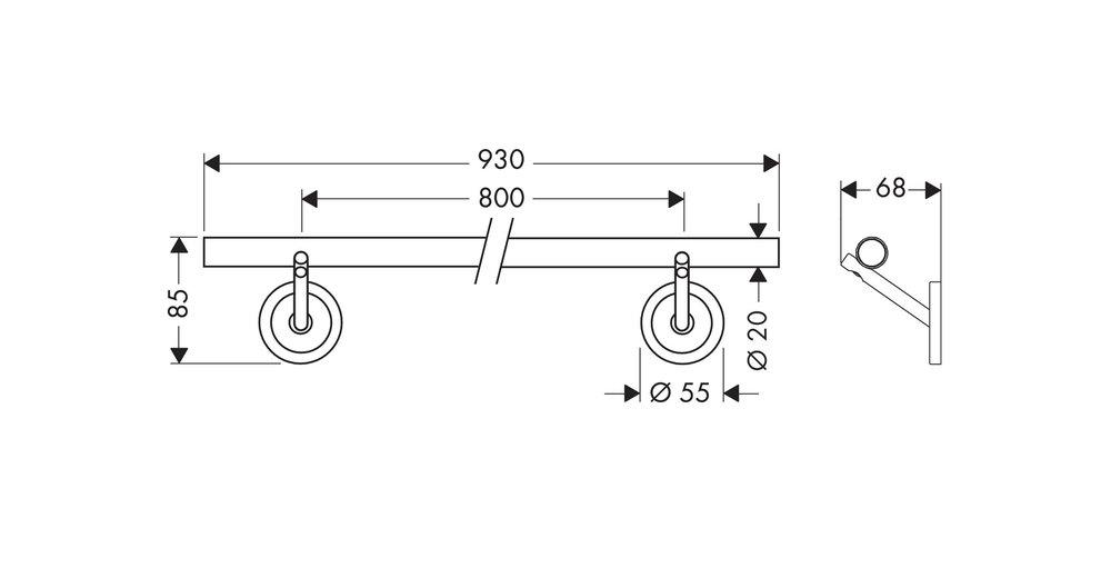 Hansgrohe # 408060000 Starck towel rail spec detail.jpg