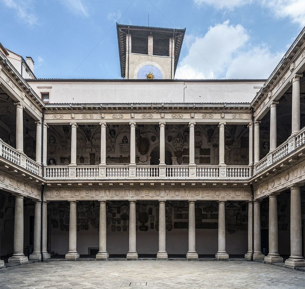 PRESTIGE Fornasetti architectural inspiration, Palazzo Bo, Univerity of Padua.jpg