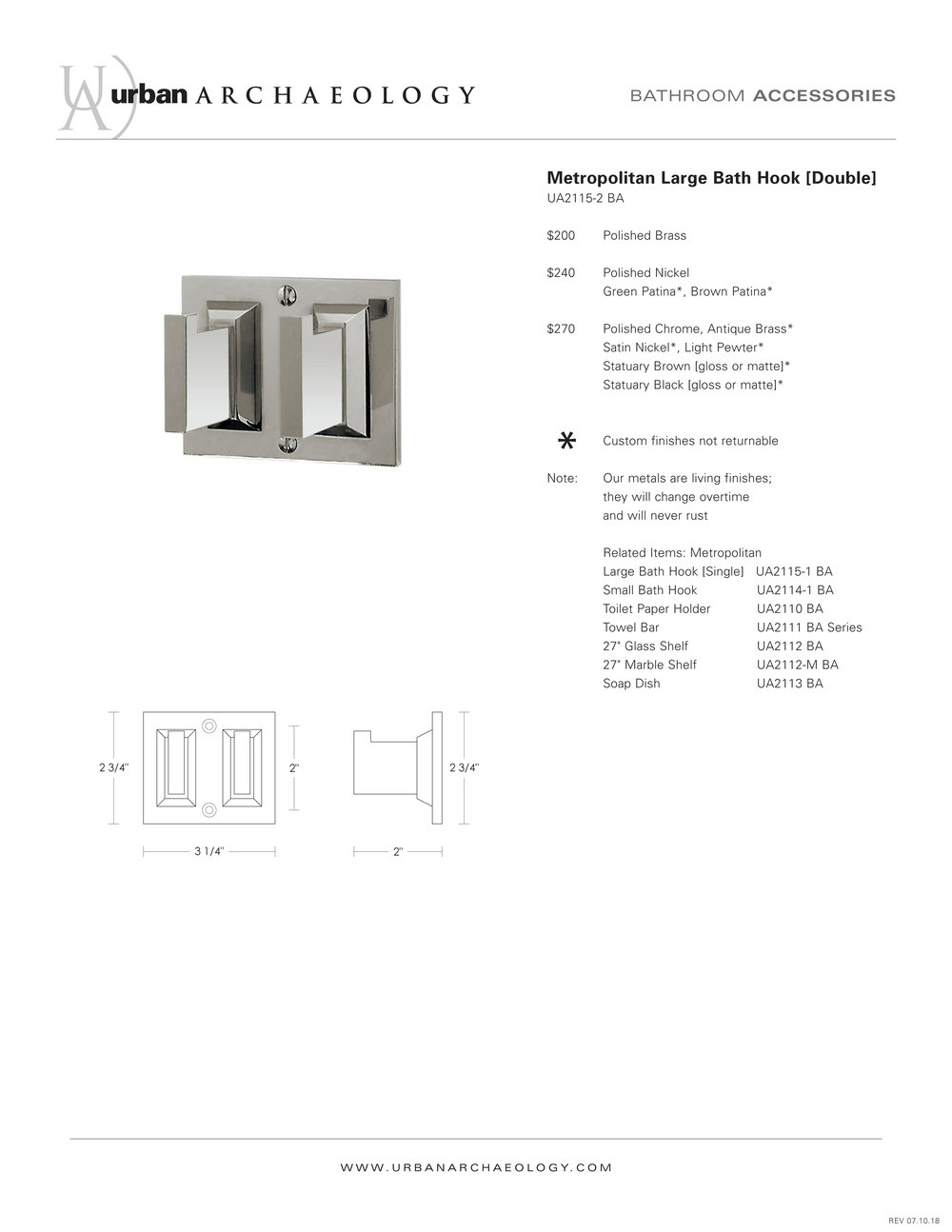 UA Metropolitan double hook specification sheet.jpg
