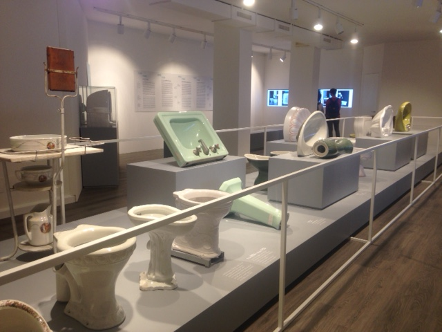 International Museum of Ceramic Design, Laveno Mombello, Varese, Italy highlighting Pozzi-Ginori sanitary ware.