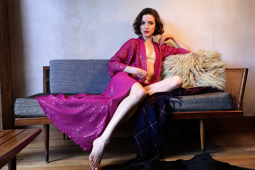 holiday-14-bts-lingerie-lookbook-raspberry-pink-gold-robe-couch-1.jpg