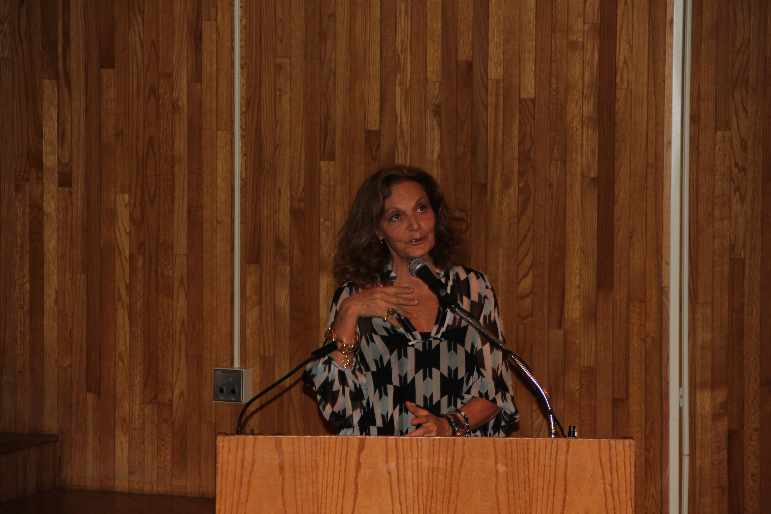 Diane von Fursternberg at the Museum at FIT's Fashion Culture Program Lectures