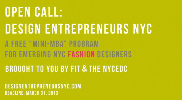 Design Entrepreneurs NYC Open Call for Emerging Designers