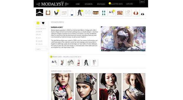 Modalyst Designer Profile