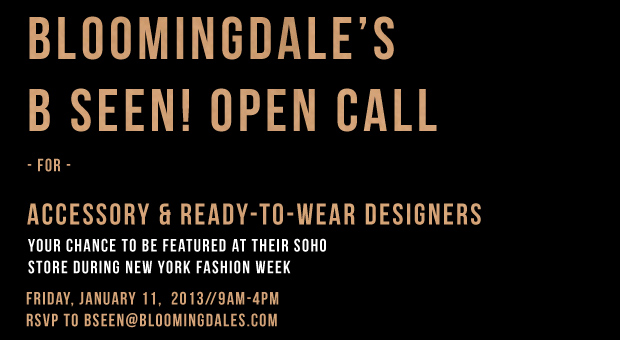 Bloomingdales B Seen Open Call
