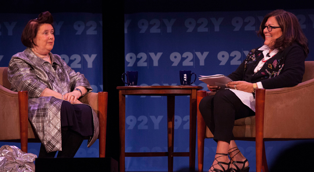 Suzy Menkes and Fern Mallis at the 92Y