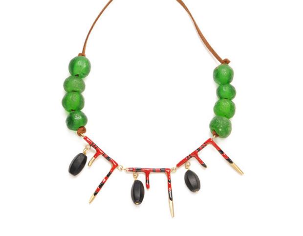 Natalie Frigo Agate and Icicles Necklace