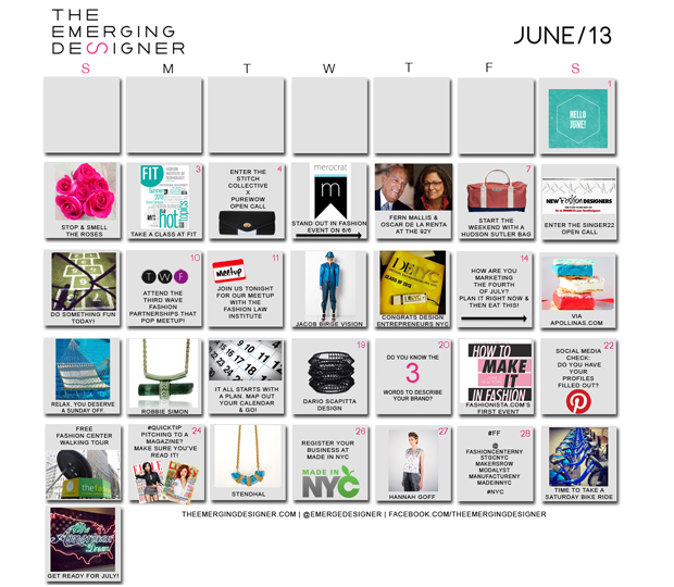 The Emerging Designer Fashion Event Calendar