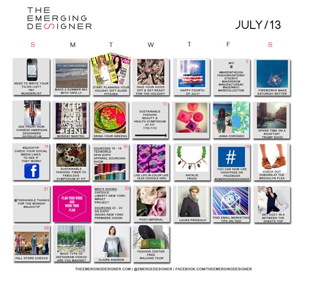 Fashion Calendar July 2013