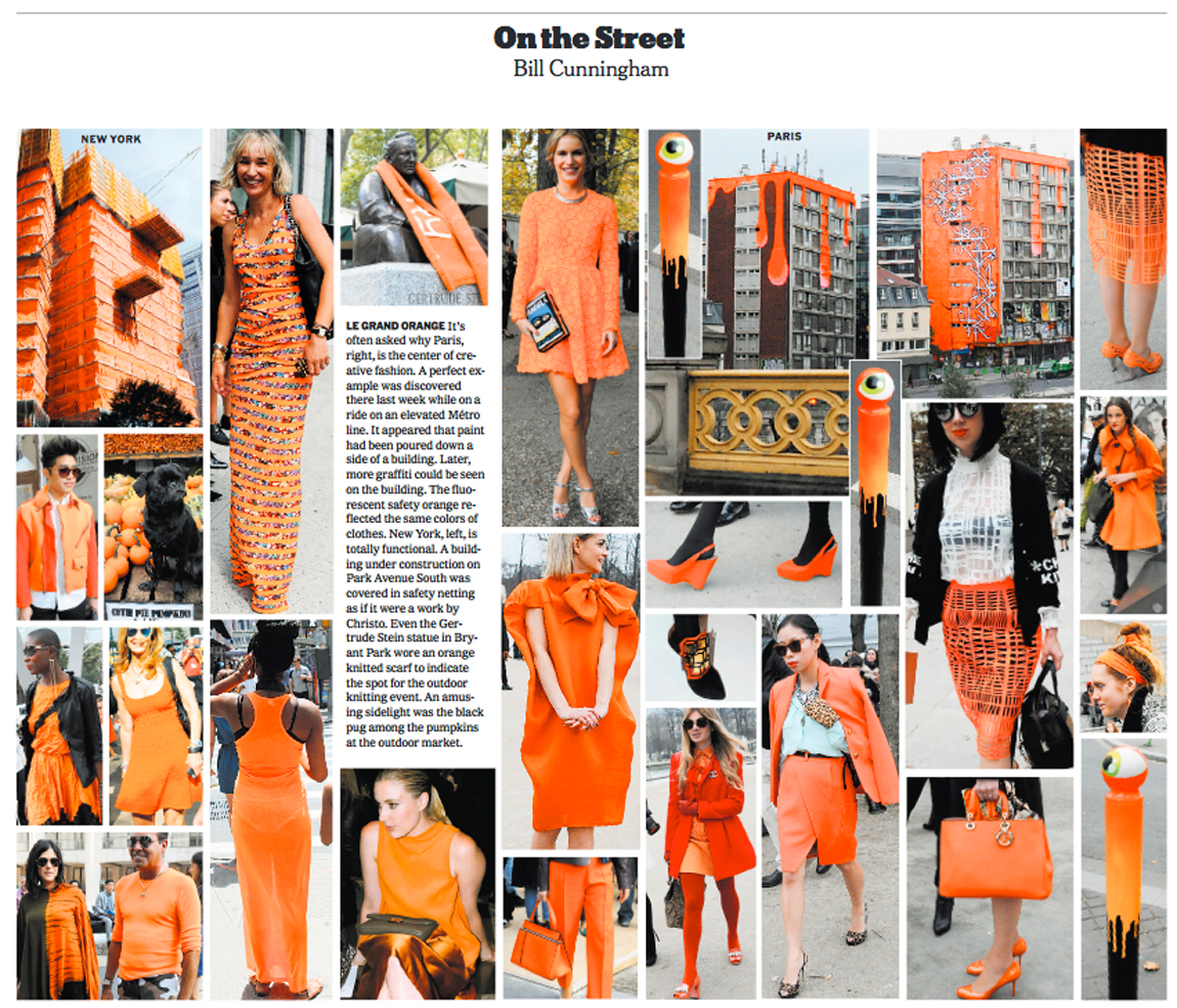 Bill Cunningham Orange Trend Paris