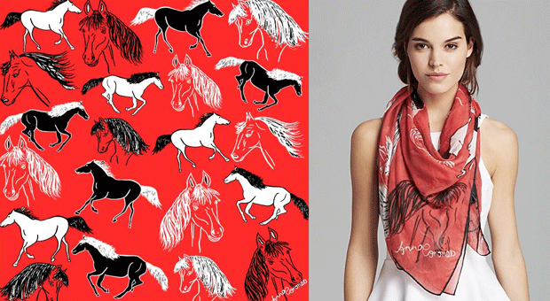 Anna Coroneo Year of the Horse Scarf
