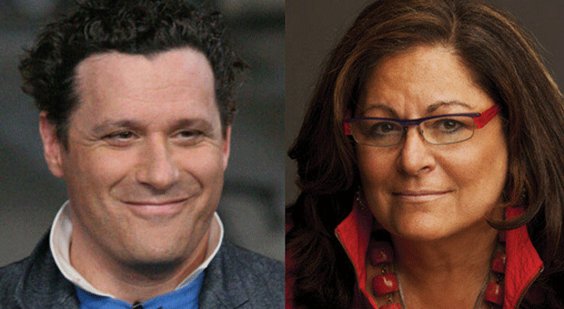 Isaac Mizrachi and Fern Mallis at the 92Y