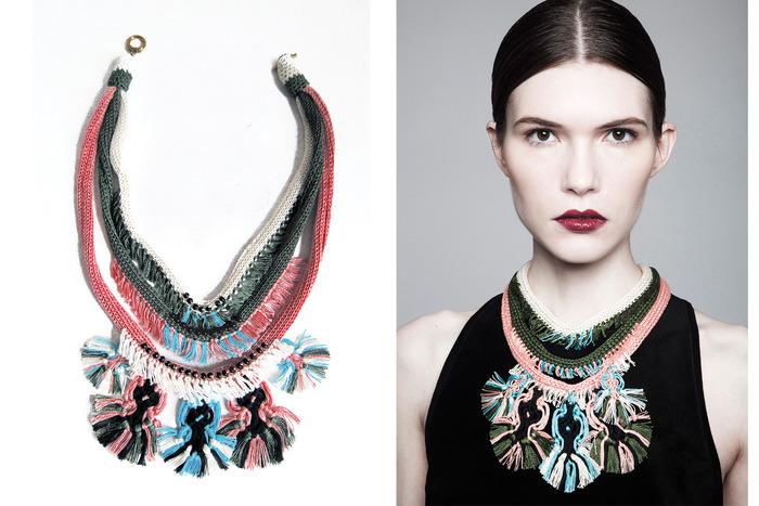$125: Jessica Velez Ana Macrame Necklace