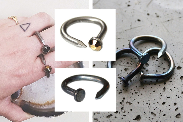 $50: Androgyny nail rings with a twist