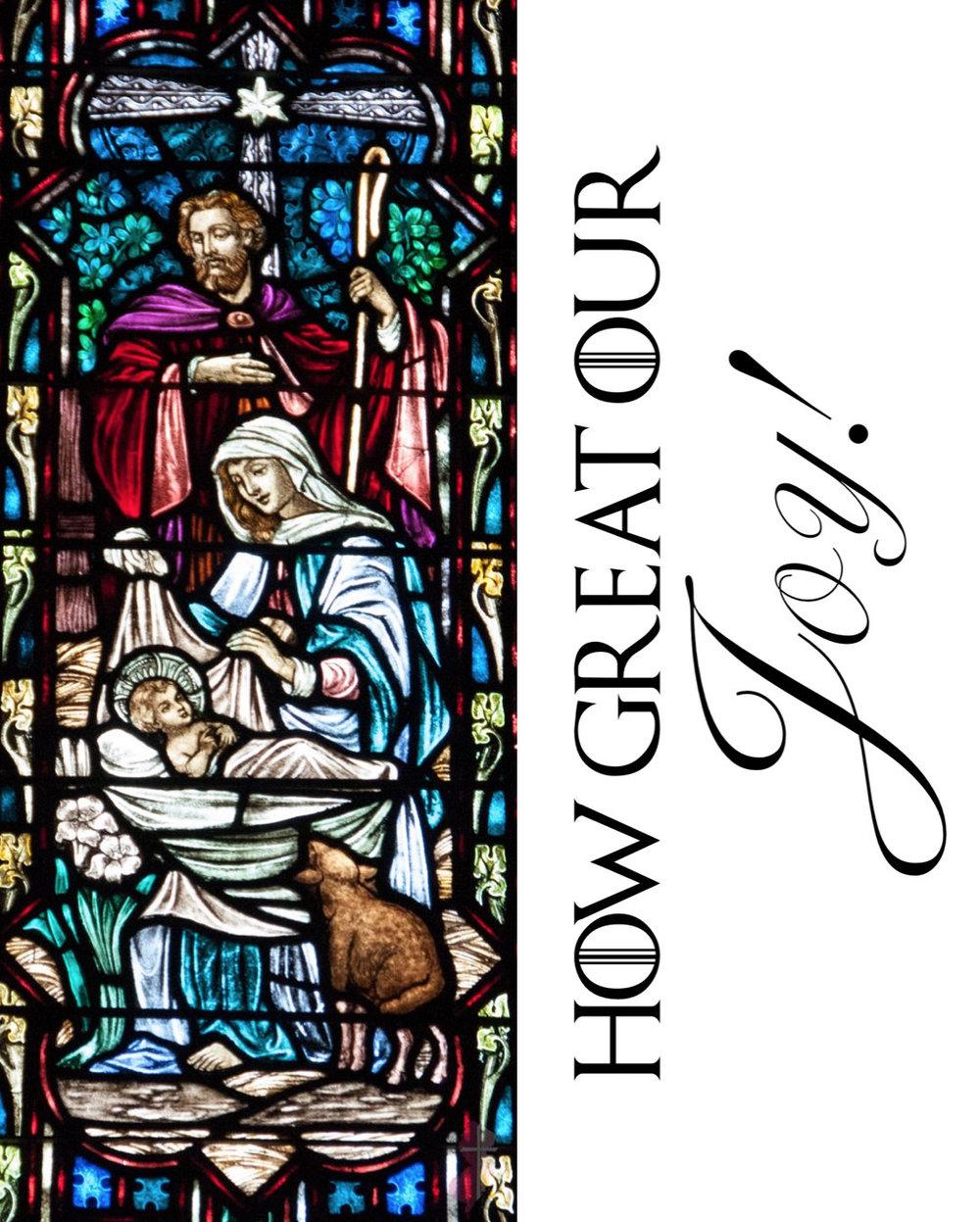"""How Great our Joy"" - Christmas Eve 2018 Bulletin Cover"
