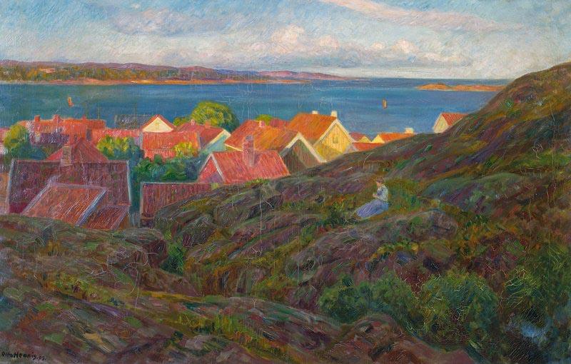 «Fra Nevlunghavn, aftensol» 1909