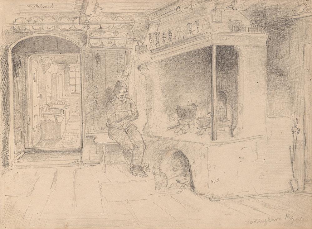 «Mannsfigur i kjøkkeninteriør, Nevlunghavn» 16 september 1861