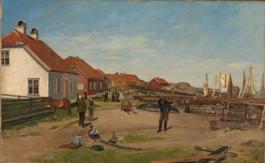 «Fra Nevlunghavn» 1880