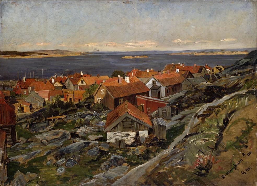 «Nevlunghavn» 1880 (Skisse)