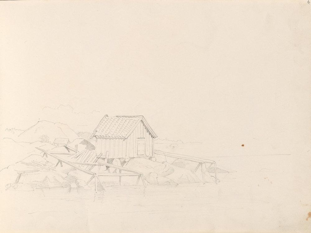 «Båthus, Nevlunghavn» September 1861