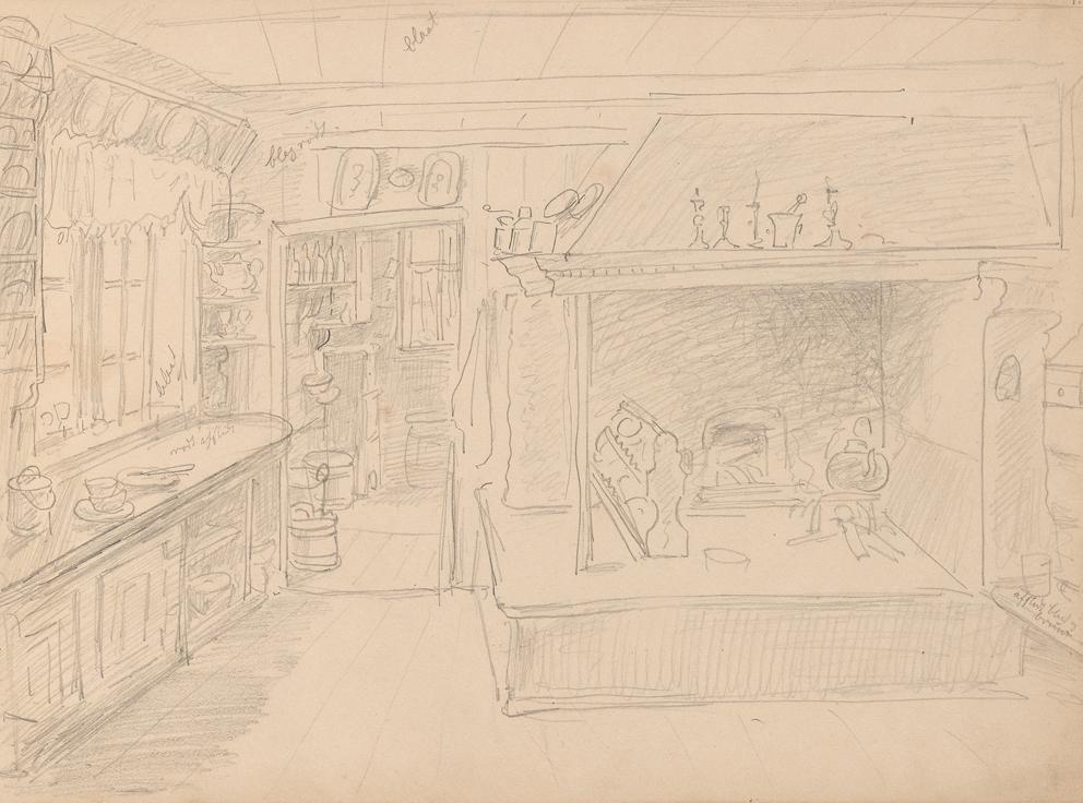«Kjøkkeninteriør» Antagelig september 1861 /  Nevlunghavn