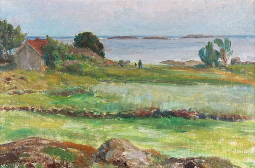 «Efter solnedgang, Nevlunghavn» 1928