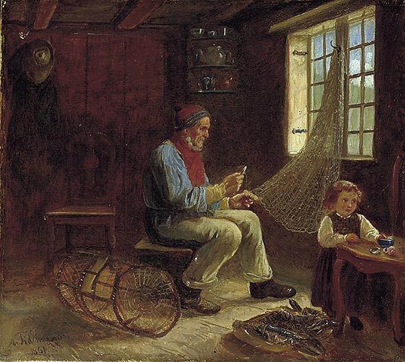 «Fiskeren og hans datter» 1861