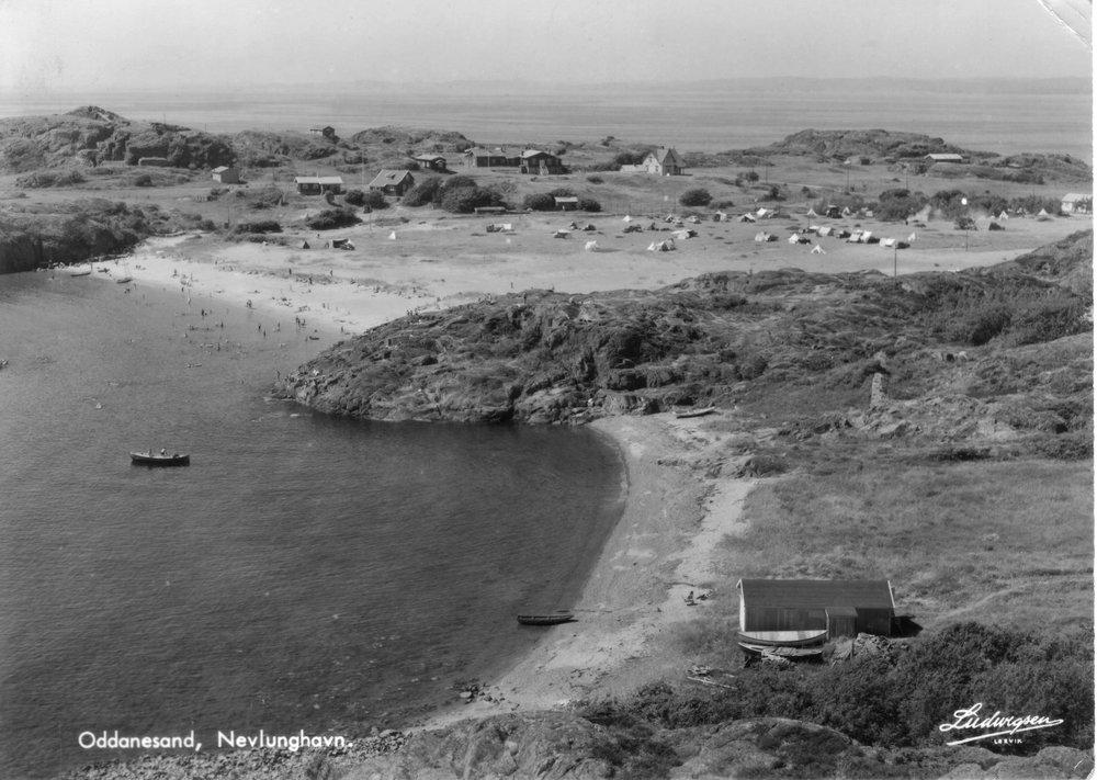 Oddane Sand fra Ø (kort sendt 1956).JPG