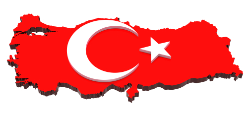 Turkey map flag