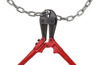 Boltcutter and chain